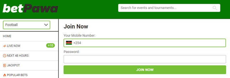 Register at Betpawa and get money for the victory of your favorite team